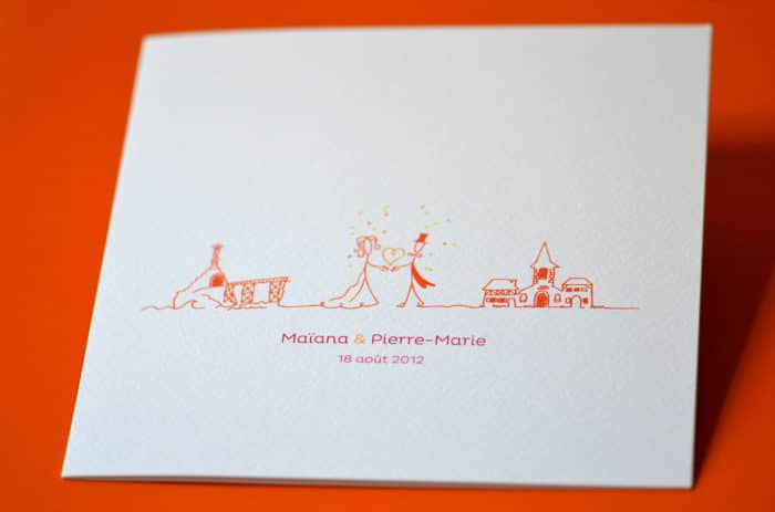 Faire part mariage illustration chic original moderne latelierdelsa