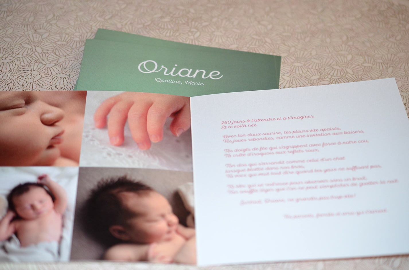 Faire part fille photo naissance sur mesure latelierdelsa 1