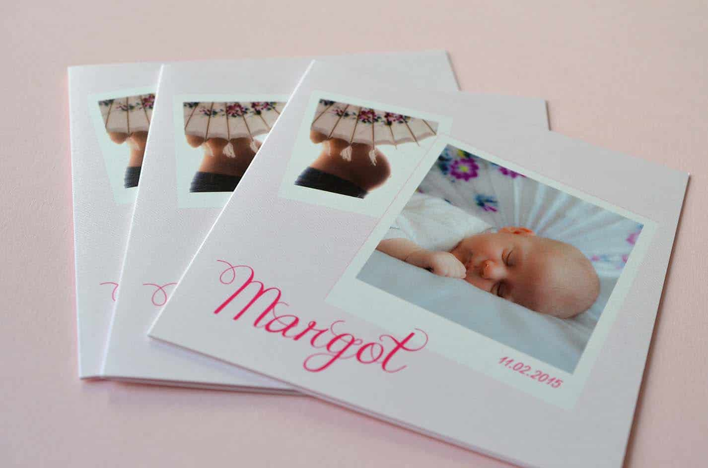 Faire part sur mesure naissance fille photo latelierdelsa 1