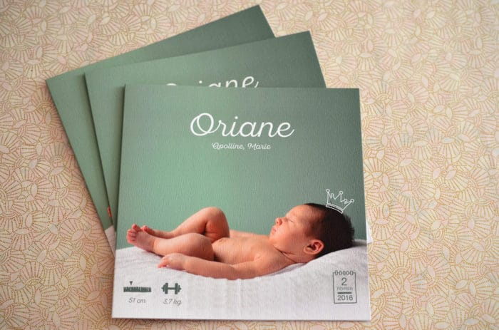 Faire part sur mesure naissance fille photo latelierdelsa 2