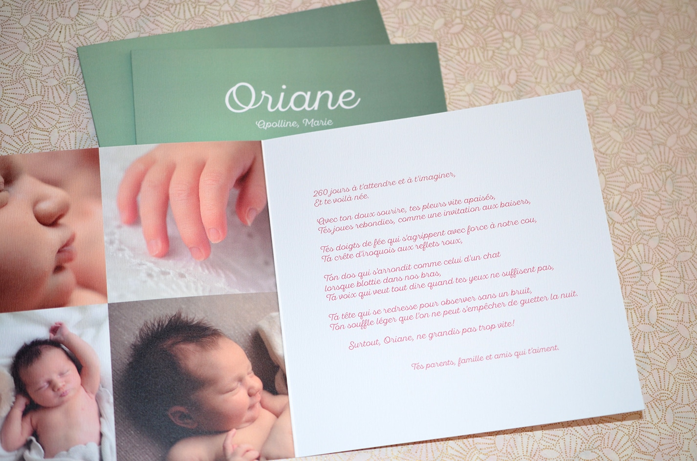 Faire part sur mesure naissance photo latelierdelsa